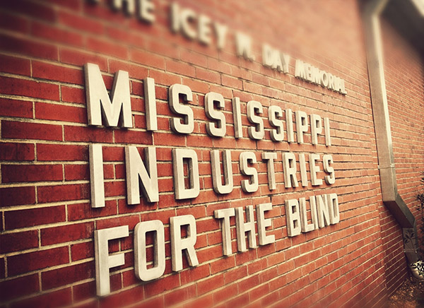 Mississippi Industries for the Blind Building Sign